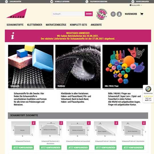 Balzer24.de - Shopware 5 Referenz