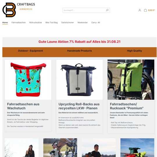 craftbags.de - Shopware 6 Referenz